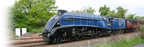 Sir Nigel Gresley at Dalmeny