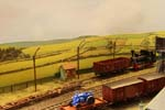 Shunting onto transporter wagon